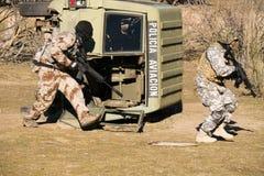 Airsoft tjäna som soldat spring Royaltyfri Fotografi