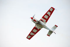 Airsow airplane on the sky Stock Photography