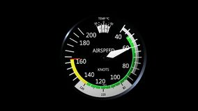 Airspeed indicator. stock footage