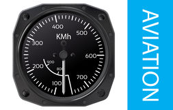 Airspeed indicator vector Royalty Free Stock Photo