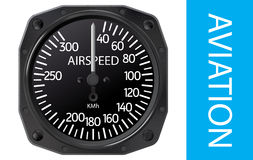Airspeed indicator vector Royalty Free Stock Image
