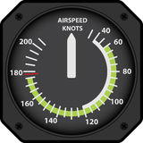 Airspeed indicator Royalty Free Stock Image
