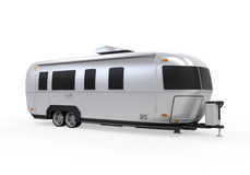 Airstream Camper Isolated Royalty Free Stock Photos