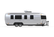 Airstream Camper Isolated Stock Images