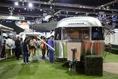 Airstream Classic car on display at The 36 th Bangkok Internatio Stock Photo