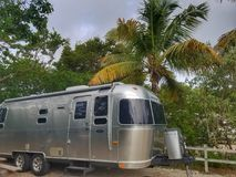 Airstream rv camping Stock Photography