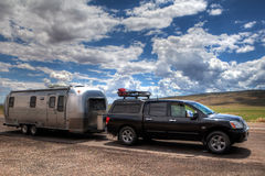 Airstream trailer and van Stock Images