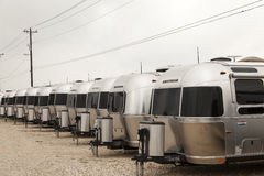 Airstream Trailers at a Dealership in the USA Stock Images
