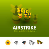 Airstrike icon in different style Royalty Free Stock Photography
