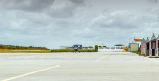 Airstrip in the Aerodrome La Juliana. Royalty Free Stock Images