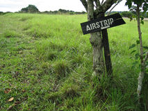 Airstrip Sign in the African Bush Royalty Free Stock Photo