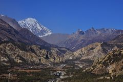 Airstripe in the Manang valley Stock Images