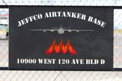 Airtanker Base Sign Royalty Free Stock Photos
