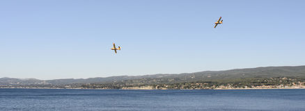 Airtankers or water bombers near bandol, France Stock Photo