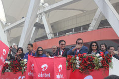 Airtel Half Marathon 2014 Flag off Royalty Free Stock Images