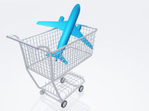 Airtravel Shopping Stock Photo