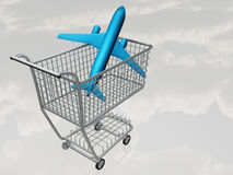 Airtravel Shopping Stock Photography