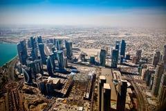 Airview σε σύγχρονο Doha Στοκ εικόνα με δικαίωμα ελεύθερης χρήσης