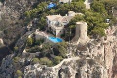 Airview de côte d'Alicante Image stock