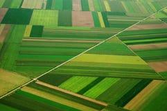 Airview del campo in Serbia Immagini Stock