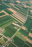 Airview do campo Foto de Stock Royalty Free