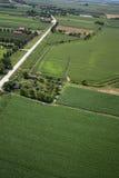 Airview do campo Imagem de Stock