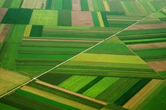 Airview of field in Serbia. Great color and pattern stock images