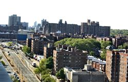 Queens rego park new york airview panorama royalty free stock photos