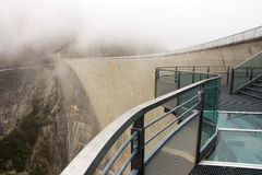 Airwalk at the dam. The Airwalk at the Malta power plant in Austria Stock Photos
