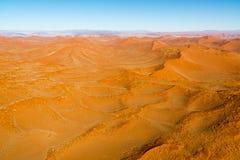 Airwiev das dunas de Sossusvlei, Namíbia Imagem de Stock