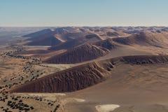Airwiev das dunas de Sossusvlei, Namíbia Imagens de Stock Royalty Free