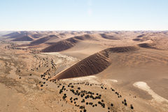 Airwiev das dunas de Sossusvlei, Namíbia Fotos de Stock