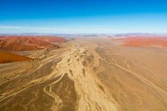Airwiev das dunas de Sossusvlei, Namíbia Foto de Stock