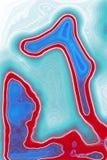 Airy Abstract Colorful Surrea Forms illustrazione di stock