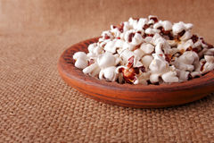 Airy  Popcorn Portion Royalty Free Stock Photography