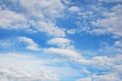 Free Airy Skyscape Of Light Blue Sky With Delicate White Ethereal Clouds Stock Image - 155343221