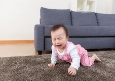 Aisa baby crying Royalty Free Stock Photo