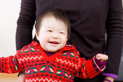 Aisa Little baby learn to walk Royalty Free Stock Images