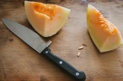 Aisan fruit cucumis melo Stock Photo