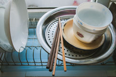 Aisan tableware at home Stock Photography