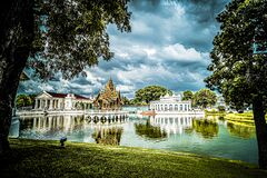 Free Aisawan-Dhipaya-Asana Pavilion Historical Building Landmark Travel Architecture Stock Photos - 214090773