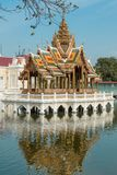Aisawan Dhiphya-Asana Pavilion in Bang Pa-In Royal Palace in Ayutthaya, Thailand - also known as the Summer Palace. Aisawan Dhiphya-Asana Pavilion in Bang Pa-In royalty free stock photo