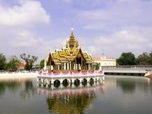 The Aisawan Dhiphya-Asana Pavilion in Bang Pa-In Royal Palace Royalty Free Stock Photo