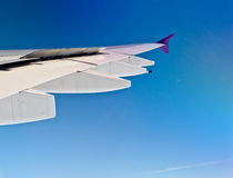 Aisbus A380's wing Royalty Free Stock Photos