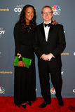 Aisha Tyler Matt Thompson royaltyfri foto