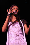 Aisha Tyler performing live. Royalty Free Stock Images