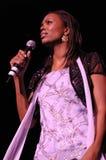 Aisha Tyler performing live. Royalty Free Stock Photos