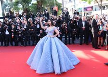Aishwarya Rai Bachchan attends the `Okja`. Screening during the 70th annual Cannes Film Festival at Palais des Festivals on May 19, 2017 in Cannes, France Royalty Free Stock Photos