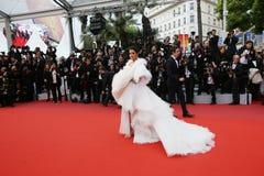Aishwarya Rai ? la premi?re de gala images libres de droits