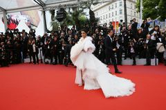 Aishwarya Rai na premier da gala imagens de stock royalty free
